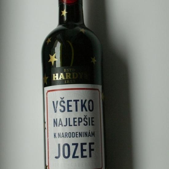 Narodeninová fľaša vínka